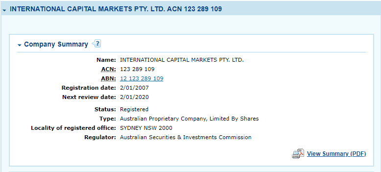 IC Markets ASIC Regulation