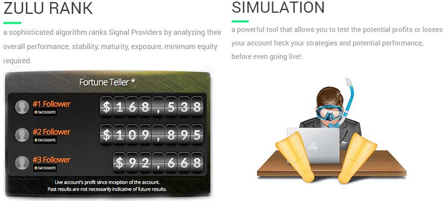 ZuluTrade Rank & Simulation